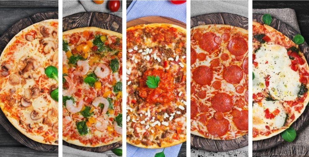 Los ingredientes para pizza son variados