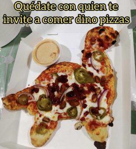 Uno de los memes de comida en forma de dinosaurio