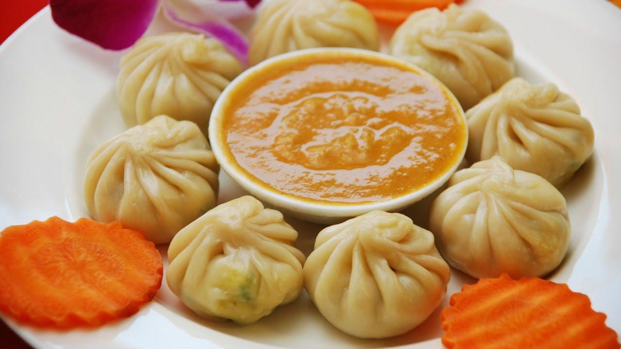 Momo dumplings de Nepal